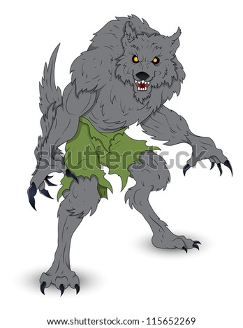 classic werewolf vector