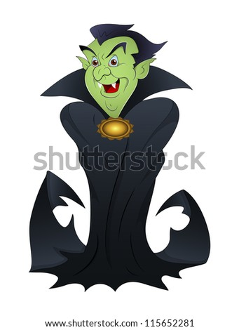 halloween vampire cartoon