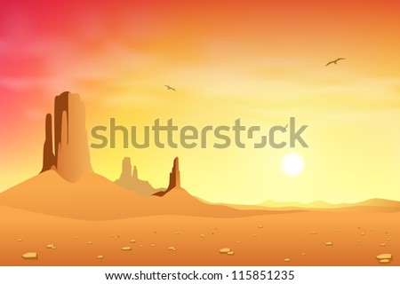 a desert landscape with