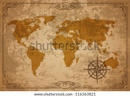 old map vector paper texture