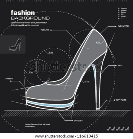 shoe design woman shoes vector
