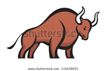 bull   vector logo sign