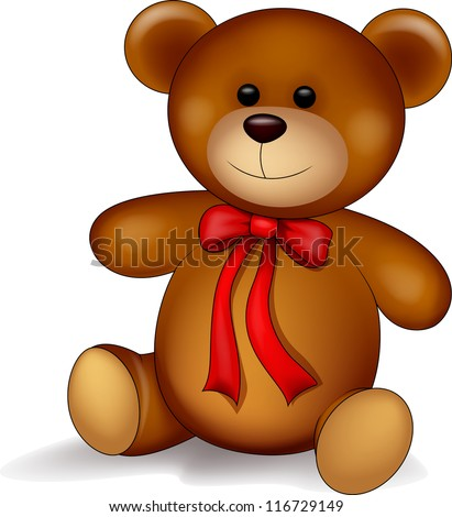 cute teddy bear isolated on