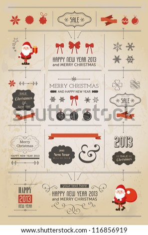 set of christmas ornaments and