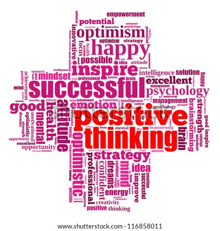 positive thinking info text