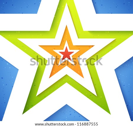 colorful stars applique