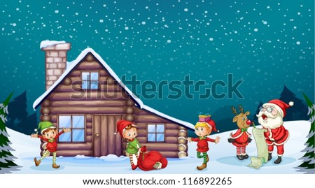 illustration of a santa clause