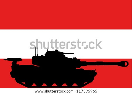 the flag of austria with the