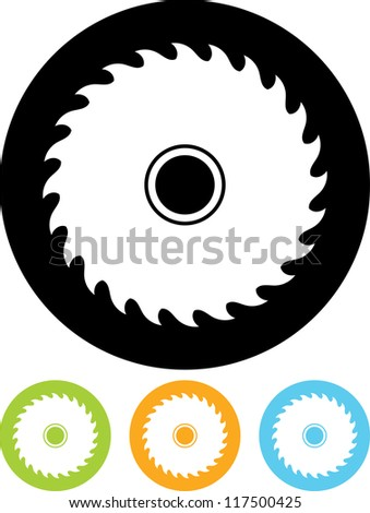 saw wheel   vector icon isolated