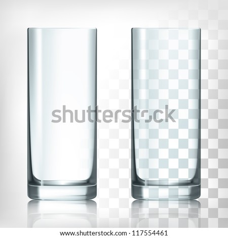 empty drinking glass cup