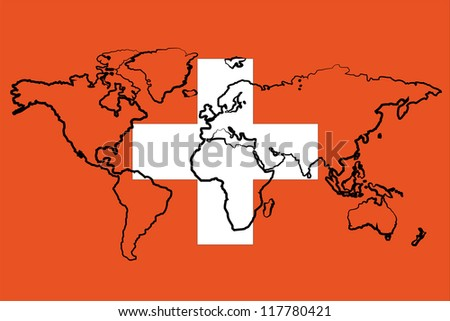 the flag of switzerland with