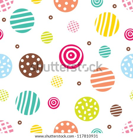 cute seamless pattern  polka