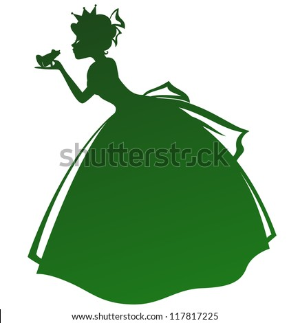 silhouette of a princess