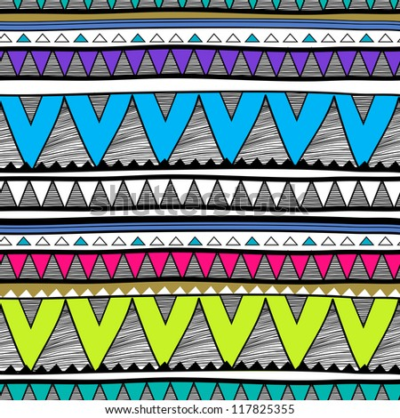 seamless tribal vector texture