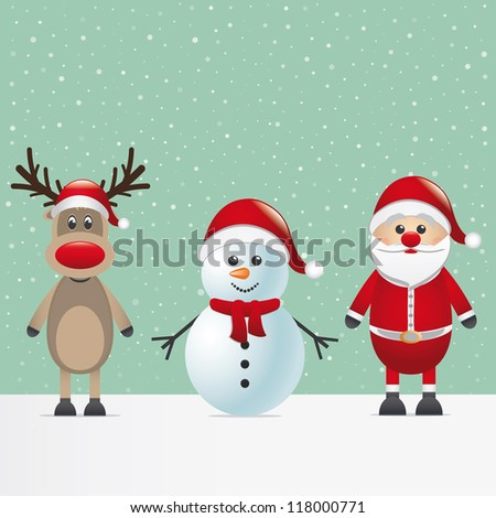 santa claus reindeer and