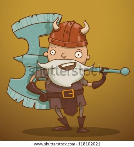 funny dwarf 01  vector