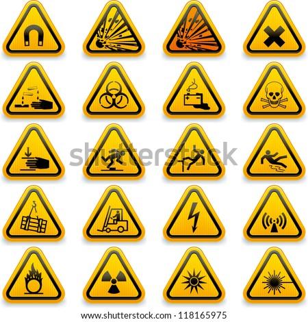 Hazard Symbols For Chemicals Vector Free Vector Download 96770