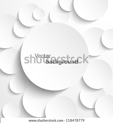 paper circle banner with drop