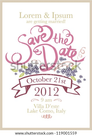 Download Save The Date Template Muckgreenidesignco - Save the date templates free download