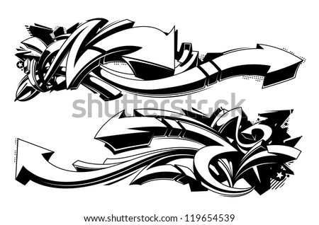 black and white graffiti