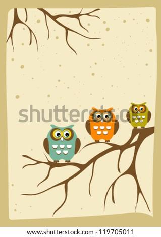 vintage owl fairy tale
