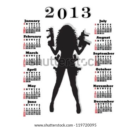calendar for 2013 with pretty