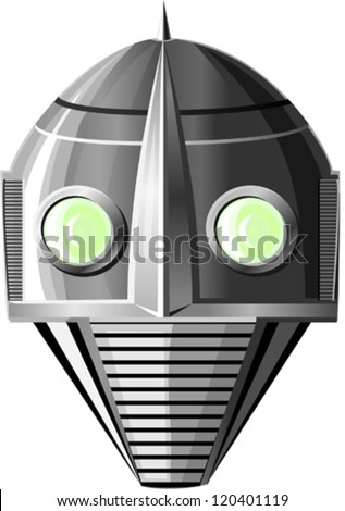 the robot  vector illustration