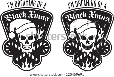 black christmas skull and