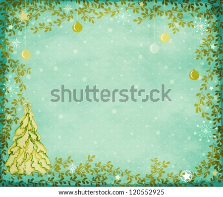 winter holidays greeting card
