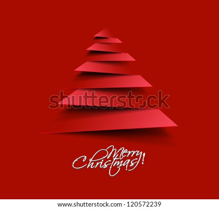 modern abstract christmas tree