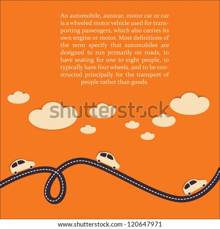 car travel background vector