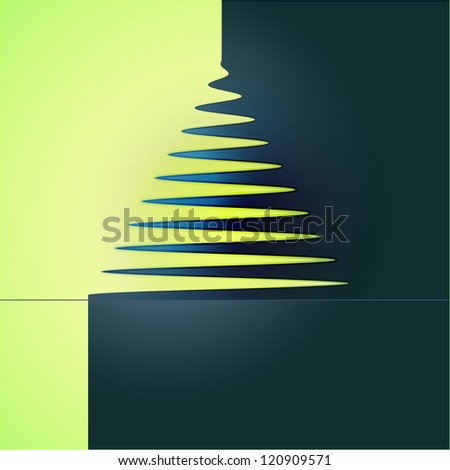 simple xmas tree abstract