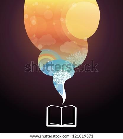 vector reading concept   book