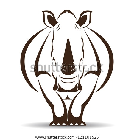 vector image of an rhino on