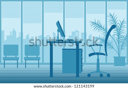 vector office interior