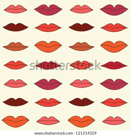 stylish lips pattern vector