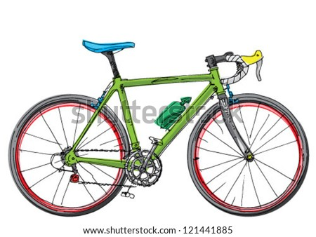 sport bicycle   cartoon