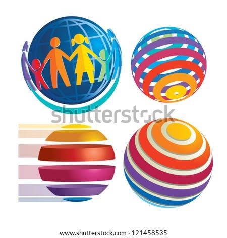 rainbow sphere icons