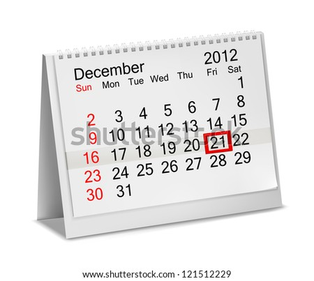 december 21  2012 end of the