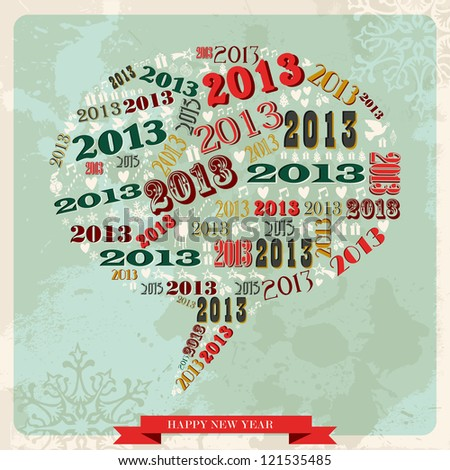 vintage happy new year 2013