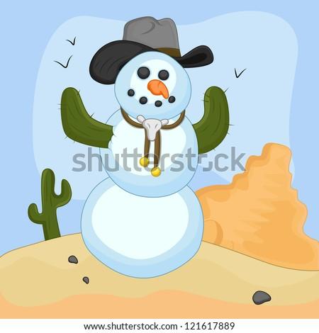 snowman vector concept