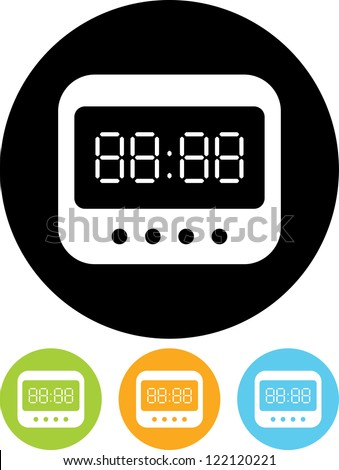 digital clock vector icon