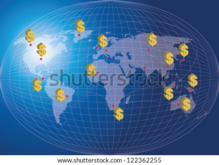 world map finance concept