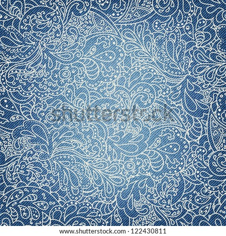 denim background with ornate