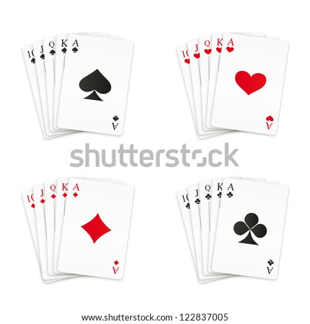 royal straight flush playing