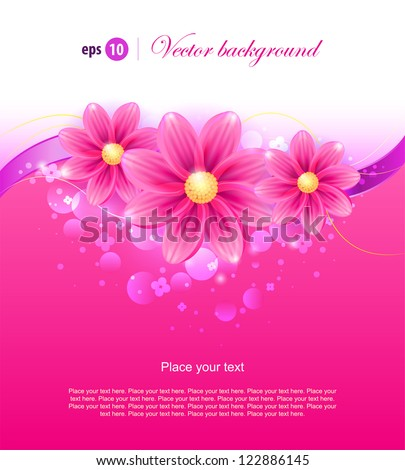 olorful background with pink