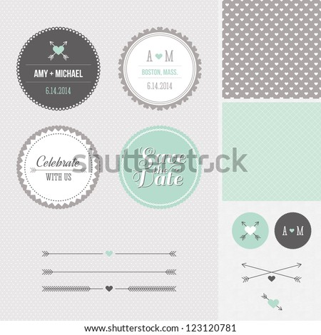 mint   gray save the date