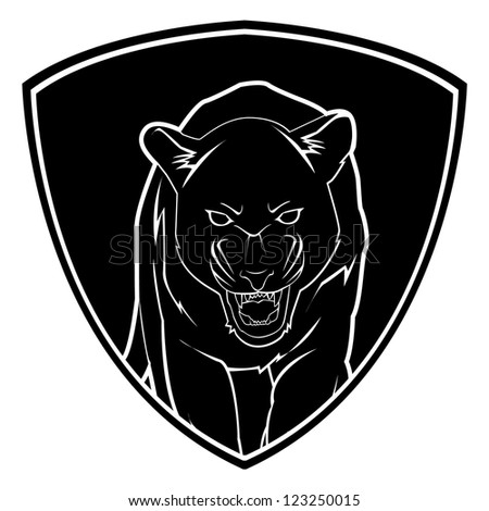 Panther Face Free Vector / 4Vector
