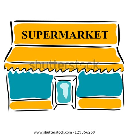 Supermarket Building Cartoon Images - Frompo