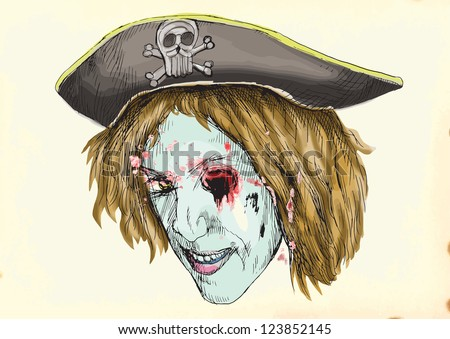 eye gouge zombie pirate hand